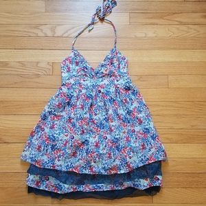 Hollister halter style floral dress size small